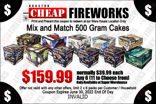 Houston fireworks Coupon Tank with Report 12 Pack Buy 1 get 1