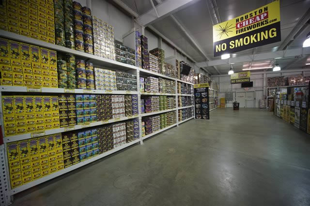 Fireworks Products at Warehouse
