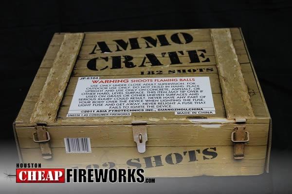 Ammo Crate Multi Shot Cakes 500 Gram Houston Cheap Fireworks