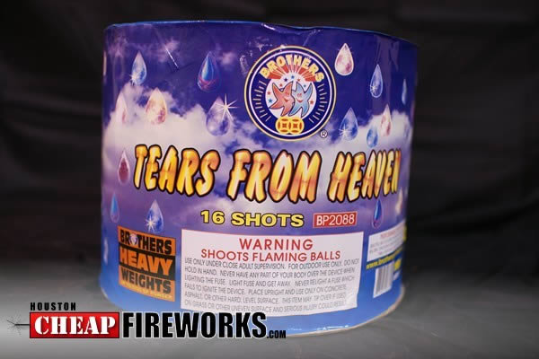 Tears from heaven multi shot cakes 500 gram tears from heaven is a 16